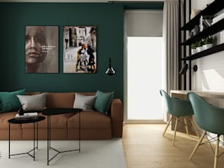 Femberg Architektura Wnętrz Modern Living Room Green