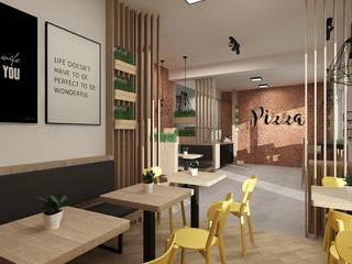 Restauracja: styl , w kategorii Gastronomia zaprojektowany przez Femberg Architektura Wnętrz
