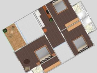 planta alta proyecto la cartuja: Casas de estilo moderno por sei design
