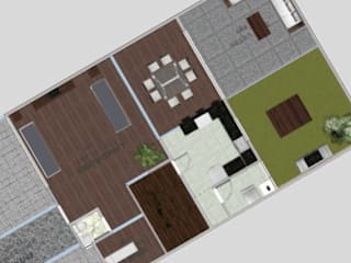 planta baja, proyecto la cartuja: Casas de estilo moderno por sei design