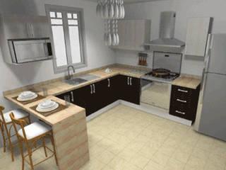 render de cocina, para autorización de cliente:  de estilo  por sei design