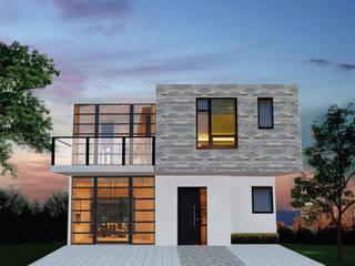 fachada la cartuja: Casas de estilo moderno por sei design