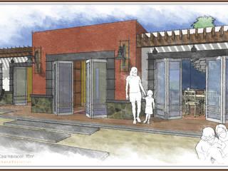 Fachada Posterior (Vista al mar): Casas de campo de estilo  por STUDIO2 arquitectos