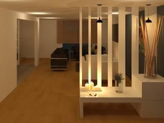 Modern Corridor, Hallway and Staircase by Perfil Arquitectónico Modern