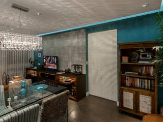 غرفة المعيشة تنفيذ arquiteta aclaene de mello,