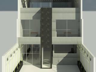 Conjunto residencial de estilo  por Perfil Arquitectónico