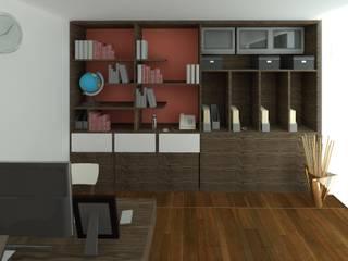 Librero estudio: Estudios y oficinas de estilo  por Perfil Arquitectónico