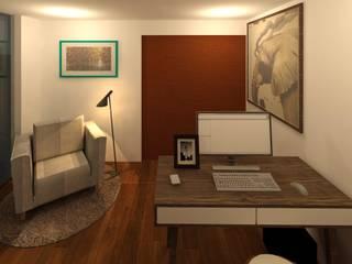 Estudios y despachos de estilo  por Perfil Arquitectónico