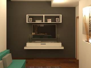 Sala de TV: Salas multimedia de estilo  por Perfil Arquitectónico