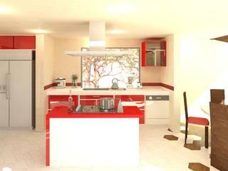 置入式廚房 by Perfil Arquitectónico,