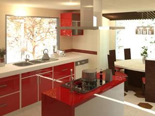 Cocinas integrales de estilo  por Perfil Arquitectónico