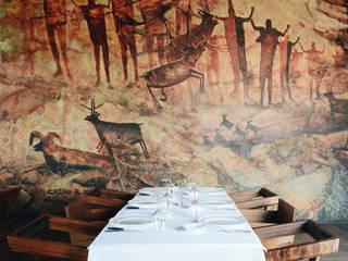 ENYA RESTAURANTE Gastronomía de estilo ecléctico de AT ZTUDIO Ecléctico
