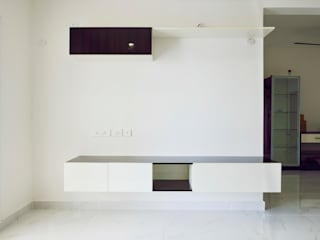 Apoorva Vijesh Aratt requiza Modern living room by Designasm Studio Modern
