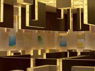 七叶和茶 美羅城 モダンな商業空間 の 株式会社KAMITOPEN一級建築士事務所 モダン