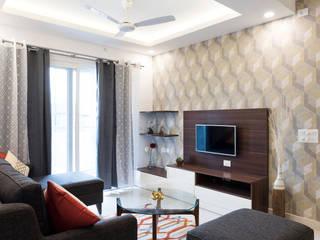 Durga Petals 302:  Living room by Designasm Studio