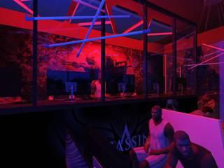 Fidato Gaming Cafe Modern gastronomy by Designasm Studio Modern