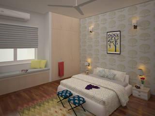 Gurumurthy Residence Modern style bedroom by Designasm Studio Modern