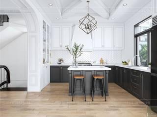 Thiết kế nội thất biệt thự 3 tầng sang trọng với phong cách hiện đại - ICON INTERIOR:  Nhà bếp by ICON INTERIOR