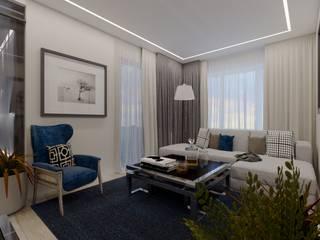 Студия дизайна Натали Хованской Minimalist living room