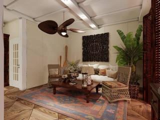 Студия дизайна Натали Хованской Colonial style living room