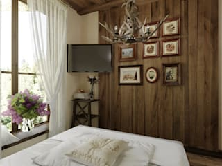 Country style bedroom by Студия дизайна Натали Хованской Country