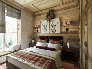 Гостиница в пос.Архыз Спальня в стиле кантри от Студия дизайна Натали Хованской Кантри