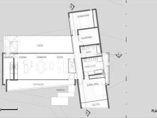 Casa Mirador al Cerro:  de estilo  por síncresis arquitectos