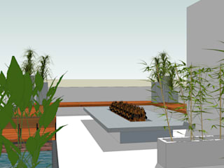 Terrace Garden:   by Designasm Studio