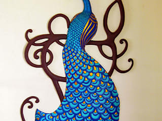 Wall Mural - Peacock: asian  by Bhuvi design studio,Asian