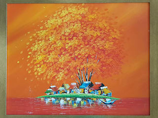 Custom Paintings : asian  by Bhuvi design studio,Asian