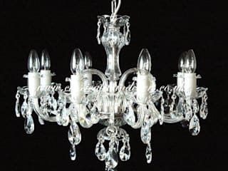 Glass Arm Chandeliers Classical Chandeliers Living roomLighting