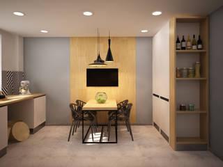 Скандинавский минимализм с элементами лофта. Щелково: Кухни в . Автор – дизайн-бюро ARTTUNDRA