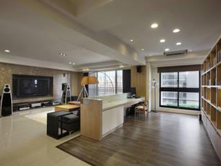 惠宇天青簡醫師:  廚房 by 台中室內設計-築采設計