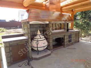 Эксклюзивный барбекю-комплекс с медной крышей от Studio Free-men Классический