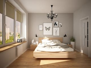 Scandinavian style bedroom by дизайн-бюро ARTTUNDRA Scandinavian