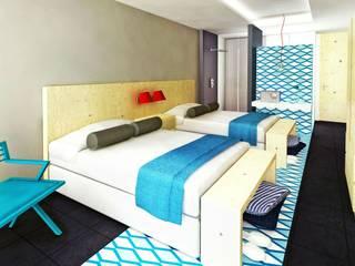 Hotel Aqua Dormitorios modernos de Espacio Interior Moderno