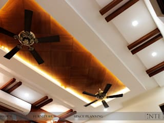 Ceiling Design for drawing room:  Living room by intent interior
