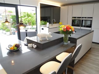 Modern Design in Light Grey PTC Kitchens Cucina moderna Grigio
