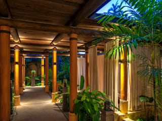 BR ARQUITECTOS Tropical style hotels Wood Wood effect