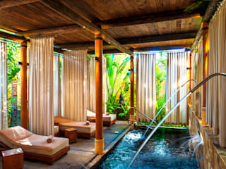 BR ARQUITECTOS Tropical style hotels Engineered Wood Wood effect