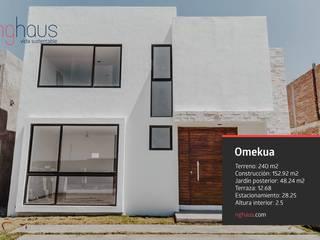 Omekua: Casas ecológicas de estilo  por iQbit, SA de CV