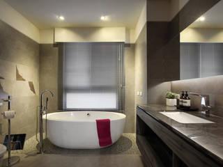惠宇天青7b:  浴室 by 台中室內設計-築采設計