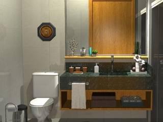 Banheiro Social: Banheiros  por Camila Zagonel Interiores