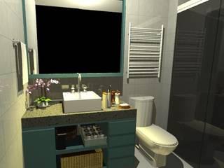 Banheiro Suite: Banheiros  por Camila Zagonel Interiores