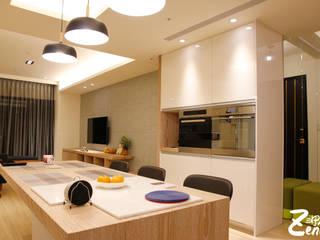 北歐‧小清新:  客廳 by Zendo 深度空間設計,