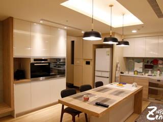 北歐‧小清新:  廚房 by Zendo 深度空間設計,