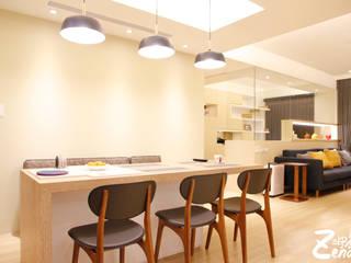 北歐‧小清新:  餐廳 by Zendo 深度空間設計,