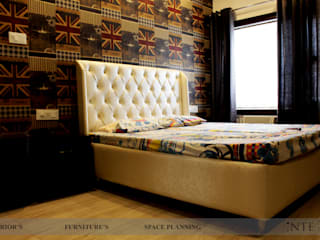 3BHK FLAT:  Bedroom by intent interior
