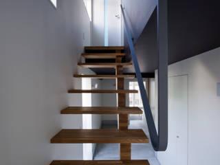 スチール階段 の 一級建築士事務所 Coo Planning ミニマル 鉄/鋼