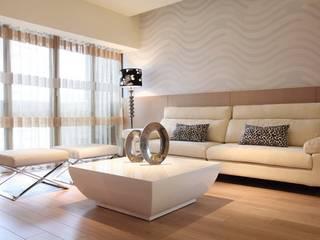 Salones de estilo moderno de 台中室內設計-築采設計 Moderno